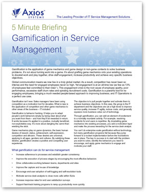 5 Min Gamification in Service Management
