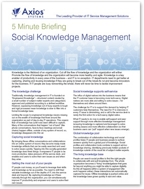 5 Min Social Knowledge Management