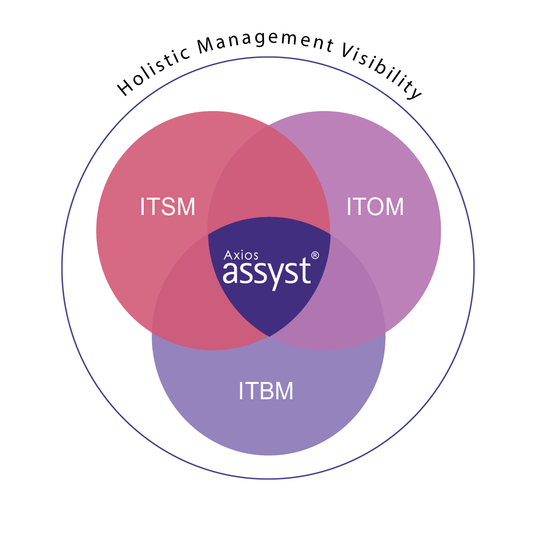 assyst integrates IT service management, IT operations management, and IT business management in a single cloud solution
