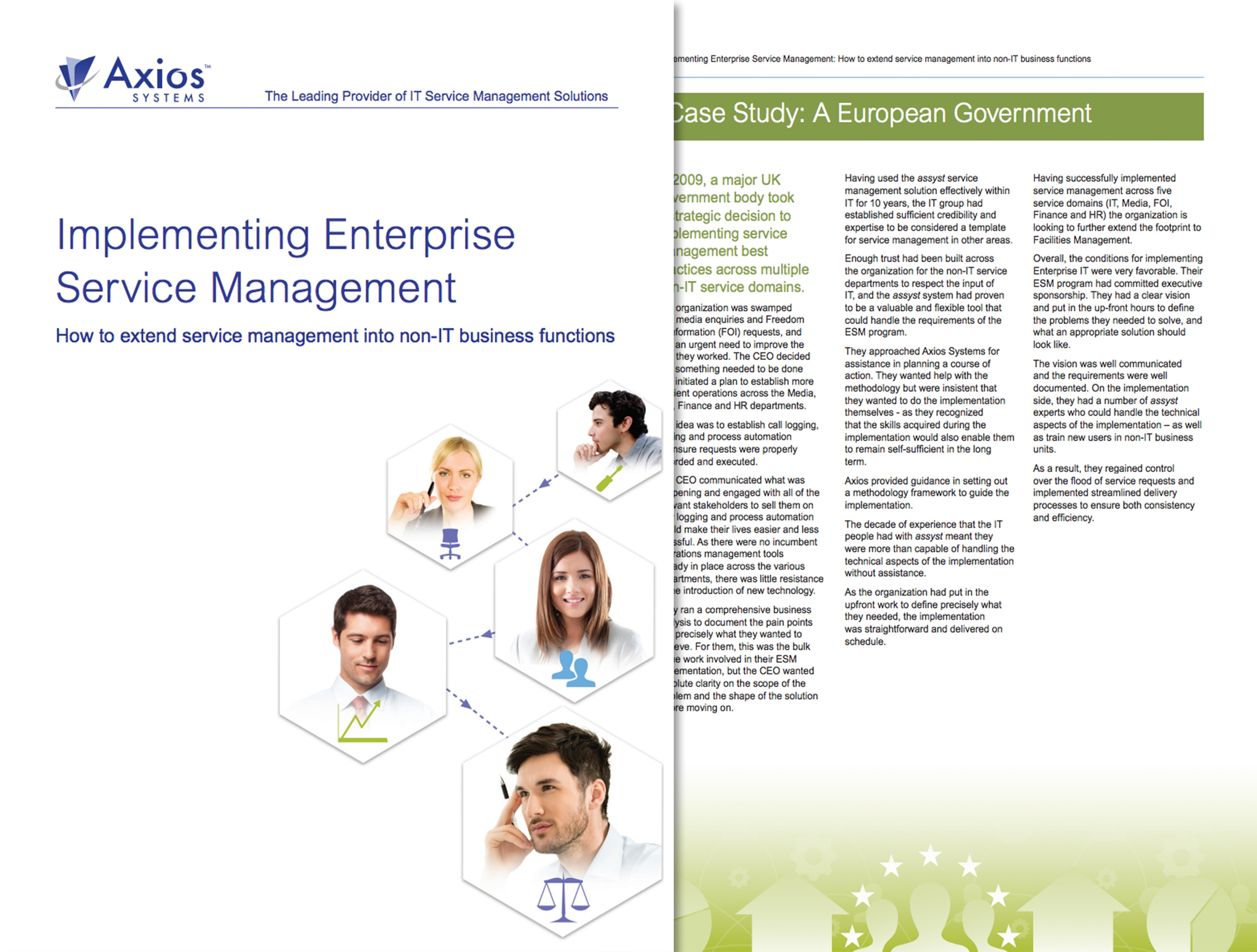 Implementierung des Enterprise-Service-Managements