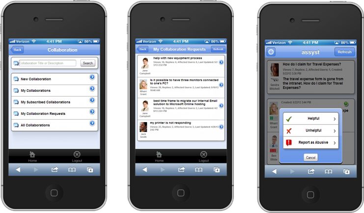 Mobile collaboration tools
