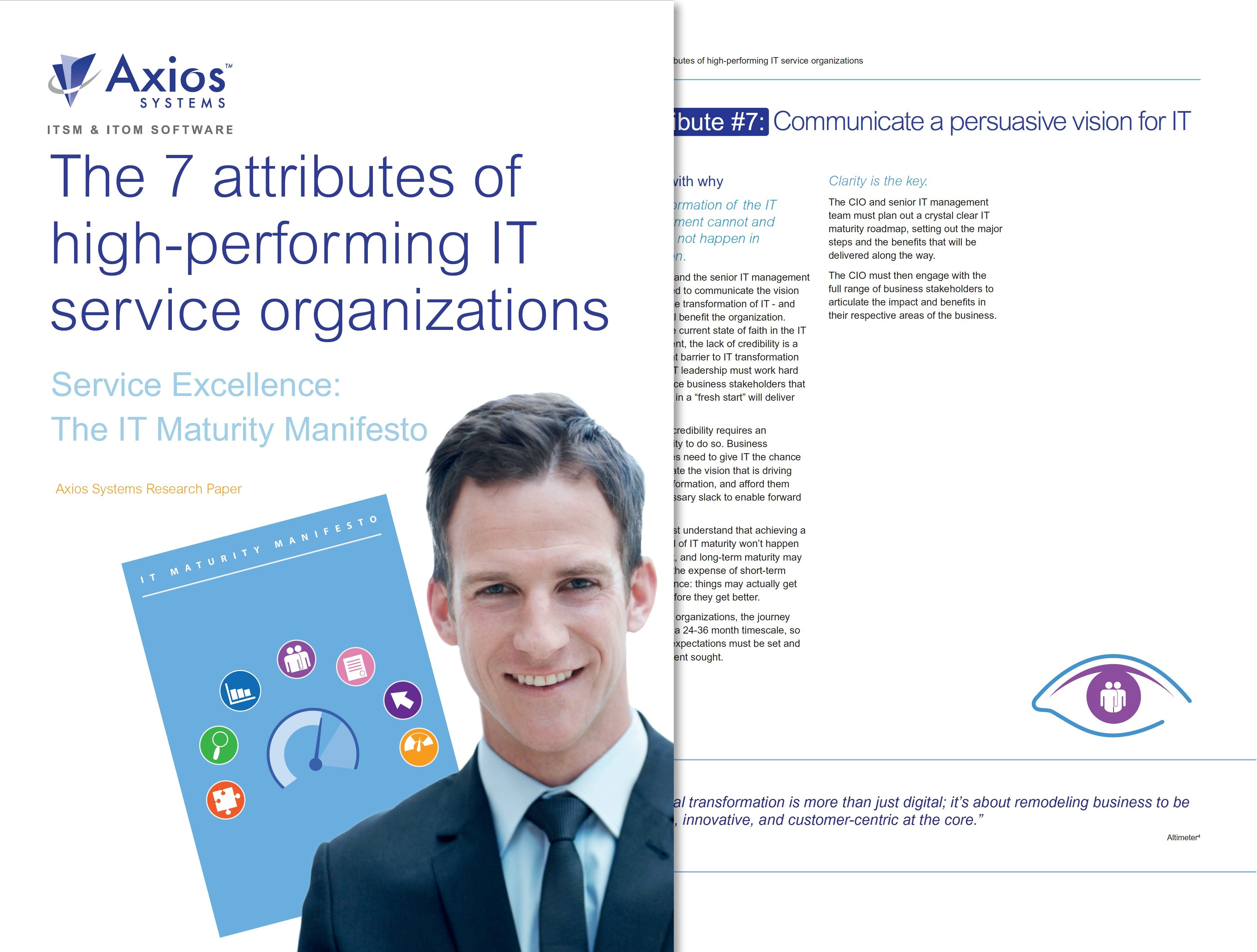 IT whitepaper: The 7 attributes of high-performing service organzations