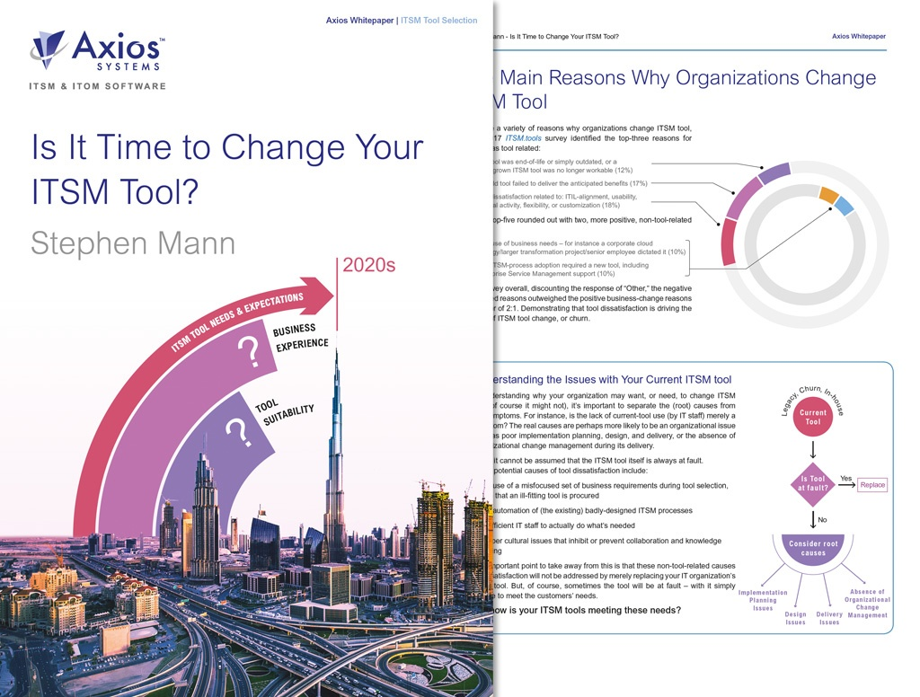 Industry analyst whitepaper: Is it time to change your ITSM tool?