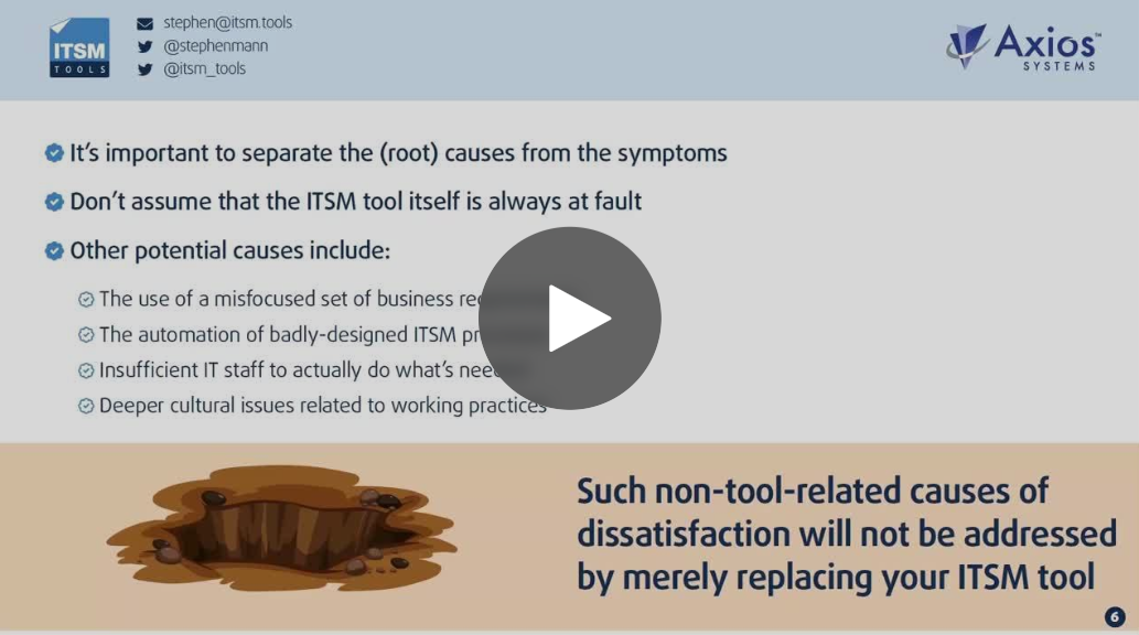 Webinar: Is It Time to Change Your ITSM Tool?